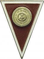 B.0827 Absolventenabzeichen NVA für Offiziere (rot)
