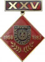 B.0873 Abzeichen 25 Jahre Zivilverteidigung
