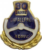 B.1318d ADMV Ehrennadel Silber 30 Jahre unfallfrei