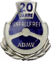 B.1319d ADMV Ehrennadel Silber 20 Jahre unfallfrei