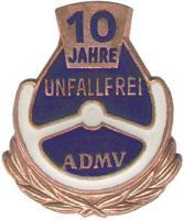 B.1320 ADMV Ehrennadel Bronze 10 Jahre unfallfrei