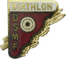 B.1898 Ehrennadel DSMF Biathlon - Gold