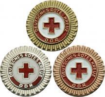 B.2171/73 DRK Treueabzeichen Gold-Silber-Bronze