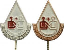 B.2185-2186 DRK Ehrennadel für Blutspenden Silber-Bronze
