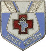 B.2203a Abzeichen Junger Sanitäter - Silber