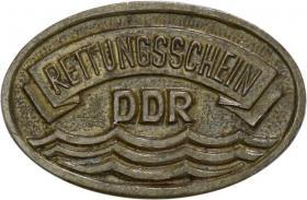 B.2224 Abzeichen Rettungsschein DDR