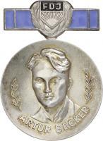 B.2358a Artur-Becker-Medaille der FDJ Silber