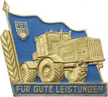 B.2405b Goldener Traktor (ohne Fahrer)
