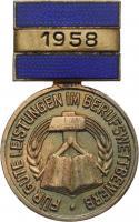 B.2447/58 Med. des Berufswettbewerbs im Handwerk 1958