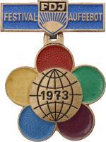 B.2488 FDJ Festival Aufgebot 1973