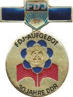 B.2495b FDJ Abzeichen 30 Jahre DDR