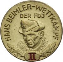 B.2512 FDJ Hans-Beimler-Abzeichen Stufe II.