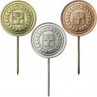 B.3613-3615 Kammer der Technik Ehrennadel Gold-Silber-Bronze
