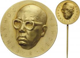 B.3632a/b Johannes-R.-Becher-Medaille Gold