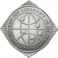 B.3684 Ehrennadel Liga für Völkerfreundschaft Silber