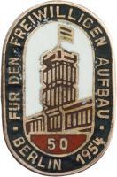 B.3734/54 Berlin Aufbaunadel 1954