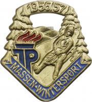 B.4191/57 JP Wintersport Massenabzeichen 1956/57