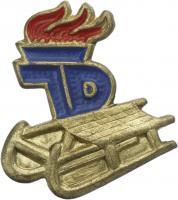 B.4193 JP Wintersportabzeichen goldener Rodel