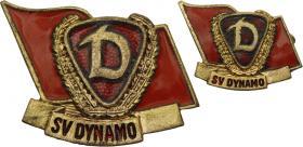 B.4517e Ehrennadel Dynamo Gold + Miniatur