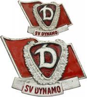 B.4518e Ehrennadel Dynamo Silber + Miniatur