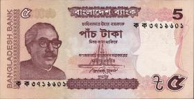 Bangladesch / Bangladesh P.53a 5 Taka 2011 (1)