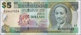 Barbados P.67a 5 Dollars 2007 (1)