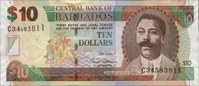 Barbados P.68a 10 Dollars 2007 (1)