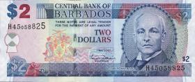Barbados P.66a 2 Dollars 2007 (1)