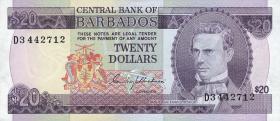 Barbados P.34 20 Dollars (1975) (1)