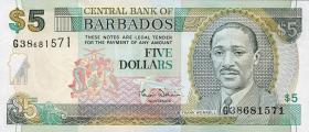 Barbados P.61 5 Dollars (2000) (1)