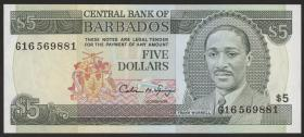 Barbados P.43 5 Dollars (1993) (1)