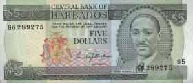 Barbados P.32 5 Dollars (1975) (1)