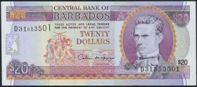 Barbados P.49 20 Dollars (1996) (1)