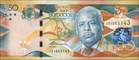 Barbados P.79 50 Dollars 2016 50 Jahre Unabhängigkeit (1)