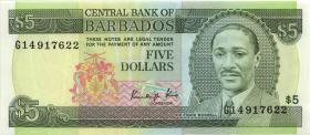 Barbados P.37 5 Dollars (1988) (1)