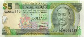 Barbados P.67c 5 Dollars 2 May 2012 (1)
