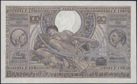 Belgien / Belgium P.107 100 Francs = 20 Belgas 1943 (1)