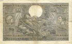 Belgien / Belgium P.112 100 Francs = 20 Belgas 1941-43 (3)