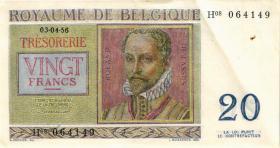 Belgien / Belgium P.132b 20 Francs 1956 (2)