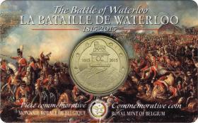 Belgien 2,5 Euro 2015 Waterloo Coincard