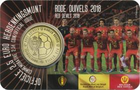 "Belgien 2,5 Euro 2018 ""Rote Teufel"" Coincard"