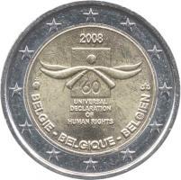 Belgien 2 Euro 2008 Menschenrechte