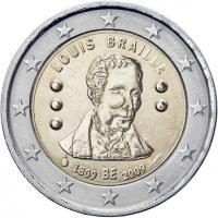 Belgien 2 Euro 2009 Braille