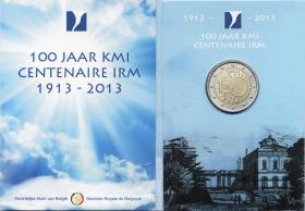Belgien 2 Euro 2013 100 J. Königliches Meteorolog. Institut im Folder