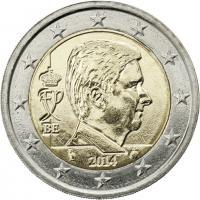 Belgien 2 Euro 2014 Kursmünze