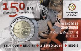 Belgien 2 Euro 2014 150 Jahre Rotes Kreuz Coincard