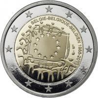 Belgien 2 Euro 2015 30 Jahre EU-Flagge PP