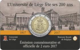 Belgien 2 Euro 2017 200 Jahre Universität Lüttich (wall.)