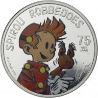 Belgien 5 Euro 2013 Spirou Farbmünze