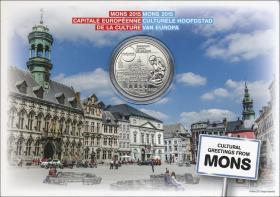 Belgien 5 Euro 2015 Mons - Kulturhauptstadt Europas 2015 im Blister